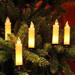 Dubbelledad inomhus julgransbelysning vit vaxljus 10 ljus