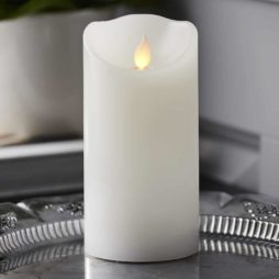 Batteridrivet ljus i vax fladdrande låga 15 cm timer vit