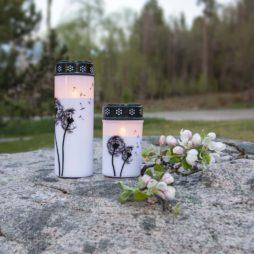 Batteridrivet gravljus Maskrosfrön