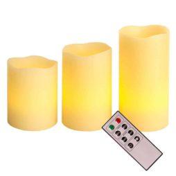 Batteridrivet ljus vax 3st fjärrkontroll