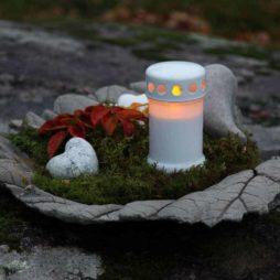 Batteridrivet gravljus vit 2-pack