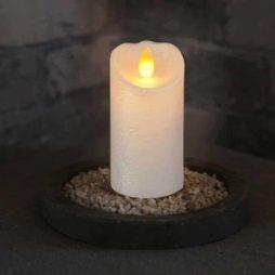 Batteridrivet ljus Glow flame 10cm vaxljus med timer