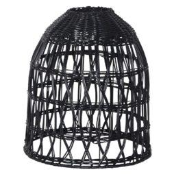 Lampskärm Knute 30 cm svart inklusive sladdställ
