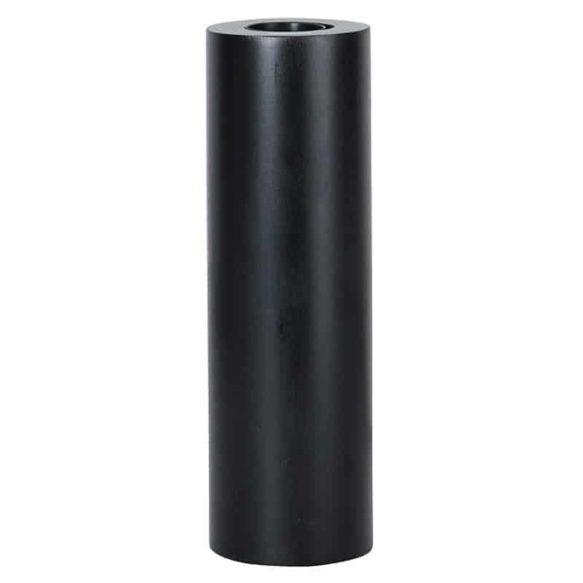 TUB lampfot svart 25cm i trä E27 sockel