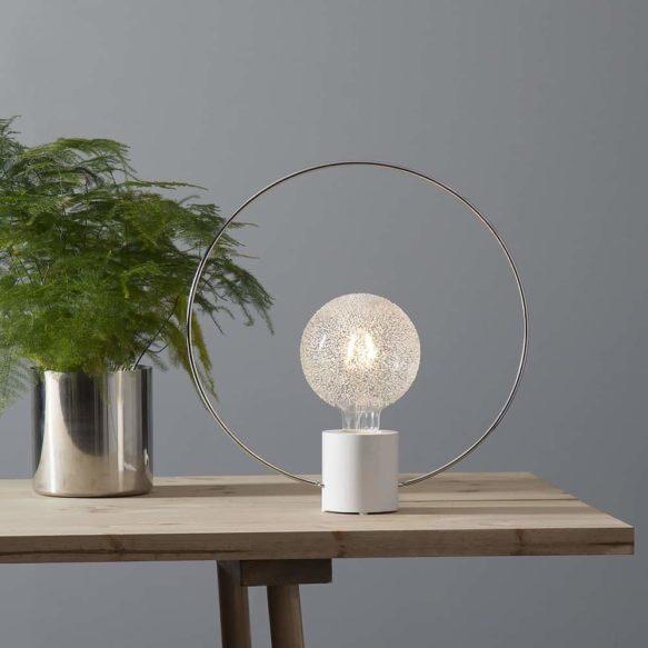 Lampfot ring forever 35cm E27 Vit/mässing