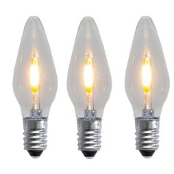 Universal LED Filament E10 23-55V klar 3-pack