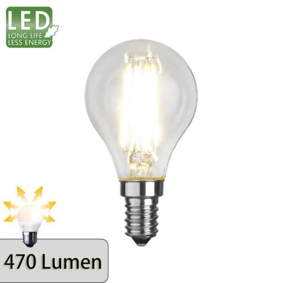 Illumination LED filament lampa E14 2700K 470lm