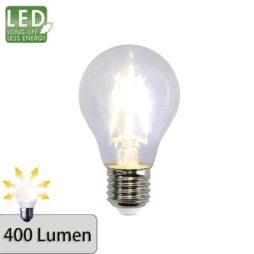 Illumination LED Klar filament lampa E27 2700K 400lm