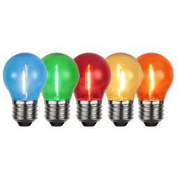 Flerfärgade led lampor med E27 sockel 5-pack