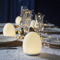 Oval dekorationslampa