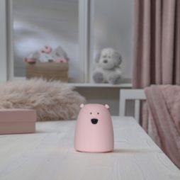Lilla Björn nattlampa rosa