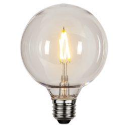 LED lampa decoration party PC hölje 9,5cm E27 2200K 70lm