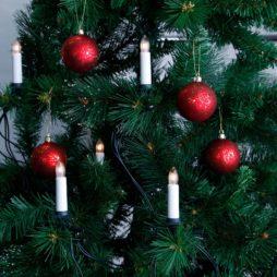 Dubbelledad inomhus julgransbelysning 16 ljus klar
