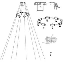 System LED anslutningskit för flaggstångsslingor