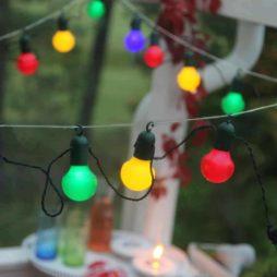 LED party ljusslinga 20 ljus multifärgad