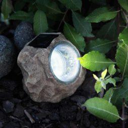 Sten solcell med 3 LED 6-pack