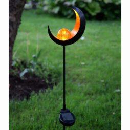 Melilla solcell månskära med glaskula på pinne