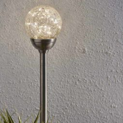 Glory gångljus solcellsbelysning med krackelerat glas