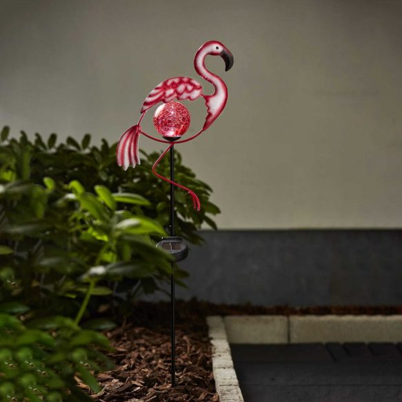 Solcellsdekoration Flamingo 80cm