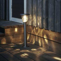 Pollare solcell Pireus rostfritt stål 20 lumen