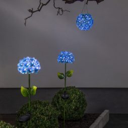 Solcellsdekoration Hortensia blå