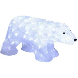 Isbjörn 50cm 90 LED Crystal decoration