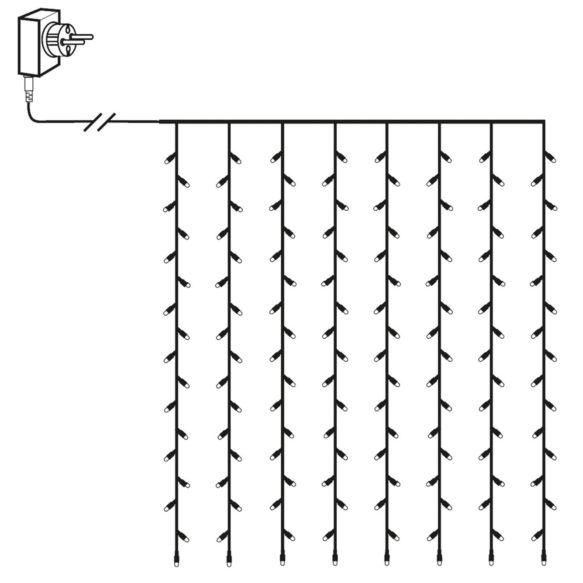 Serie LED ljusgardin 80 LED 1,3x1,3 meter