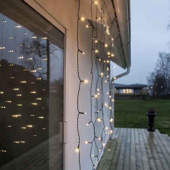 Serie LED ljusgardin 80 LED 1,3x1,3 meter Crispy Ice White