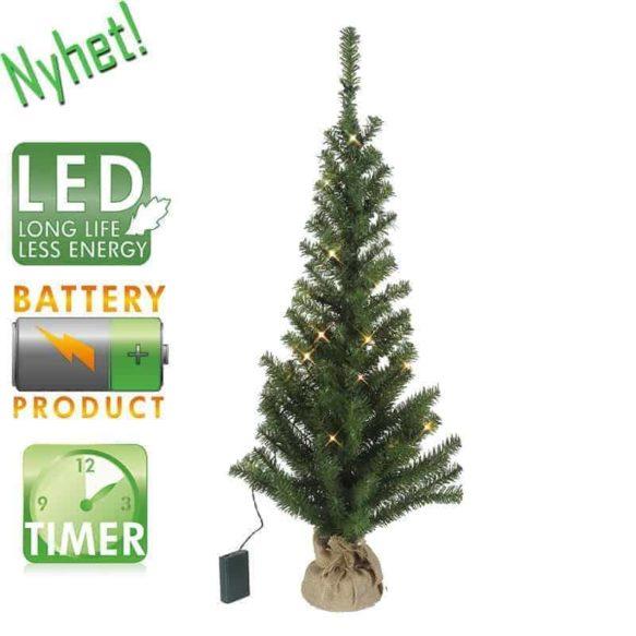 Bordsgran 90cm 30LED batteridriven grön