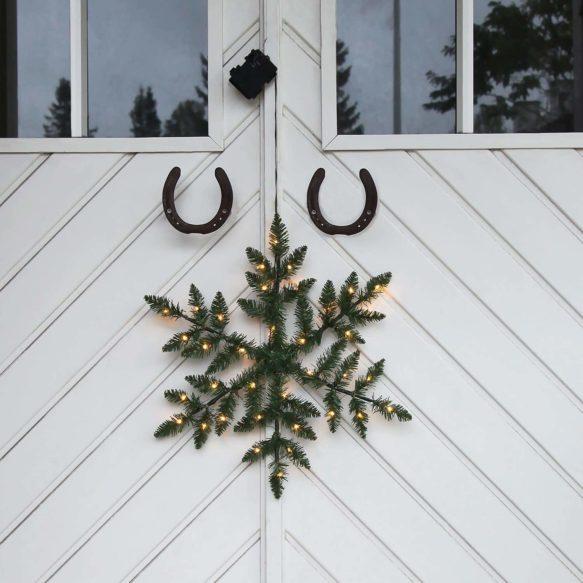 Batteridriven dörrkrans snowflake 50cm