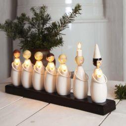 Luciatåg adventsljusstake 7 ljus