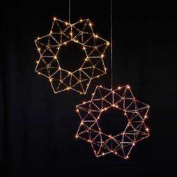 Edge metallkrans 30 LED koppar