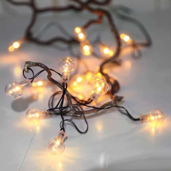 Batteridriven Ljusslinga Globe light 16 LED med timer
