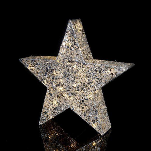 Silver Stjärna 70cm 40LED