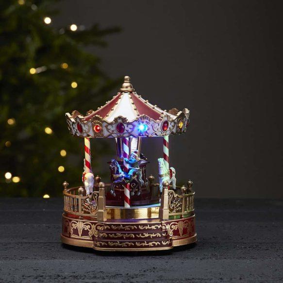 Julby karusell med barn och musik