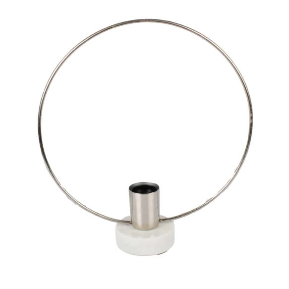 Lampa ring i metall 30cm E27 silver
