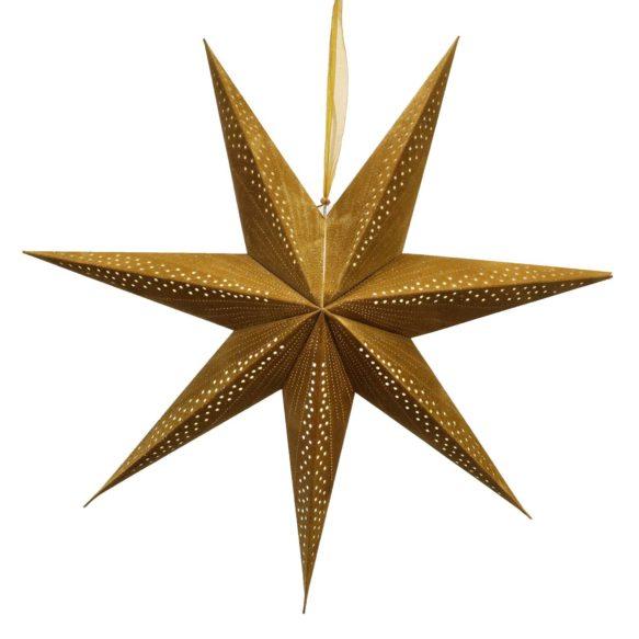 Adventsstjärna sammet stråla guld 75cm