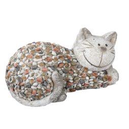 Katten trädgårdsdekoration katt 32 cm