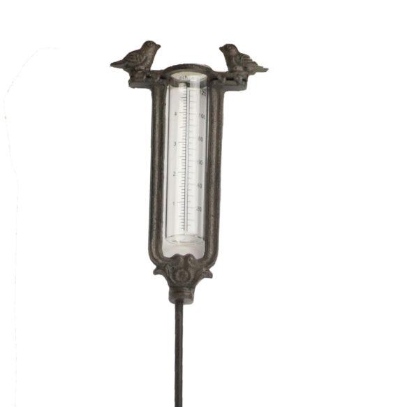 Regnmätare i gjutjärn med fåglar 98 cm