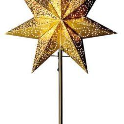 Antique mini stjärna på fot guld 55cm