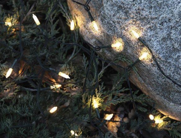Pisello LED 160-ljus utomhus ljusslinga varmvit