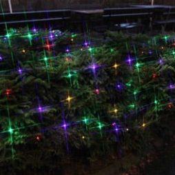 Serie LED nät 180 ljus 3x3m svart kabel multi