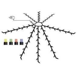 System 24 parasoll ljusslinga komplett 112 LED multi
