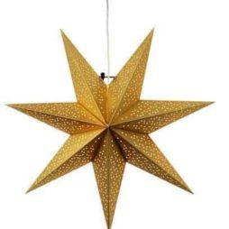 Dot Star 54cm pappersstjärna guld