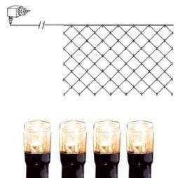 Serie LED nät 90 ljus 2x1m svart kabel varmvit