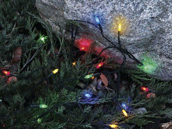 Pisello LED 80-ljus utomhus ljusslinga multi