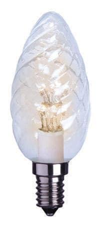 Decoration LED kronljus E14 LED klar twisted 2600K
