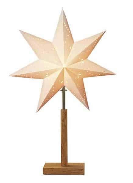 Karo mini stjärna på fot 55cm vit