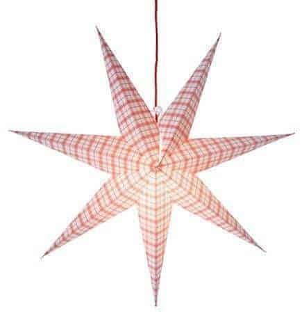 Lisa pappersstjärna vit/röd 70cm
