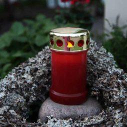 Batteridriven gravlykta röd 2-pack